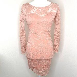 Ambiance Lace Dress Dusty Rose Blush XS - Small